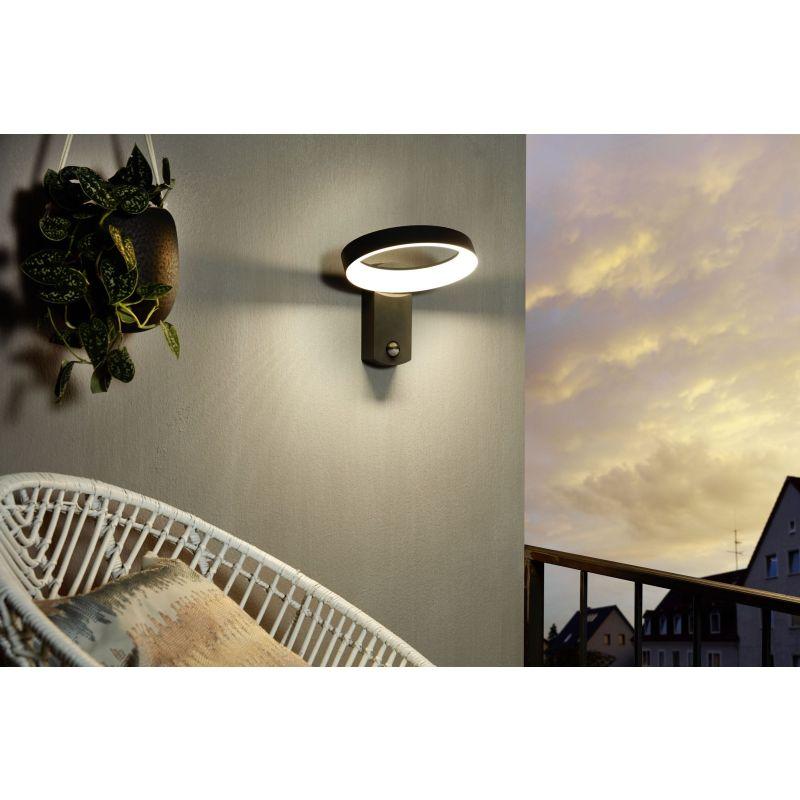 Eglo-97308 - Pernate - LED Anthracite & White PIR Wall Lamp