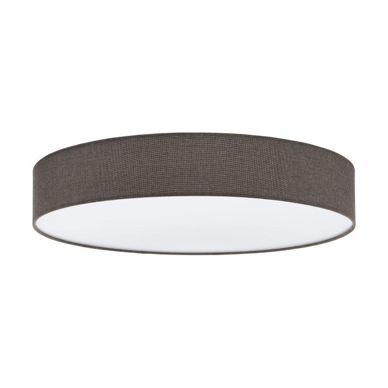Eglo-97618 - Pasteri - Brown Linen & White Diffuser 5 Light Ceiling Lamp