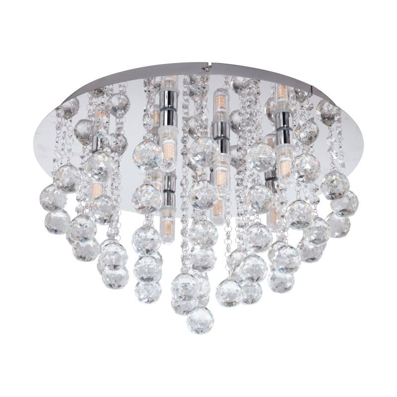 Eglo-97699 - Almonte - Crystal & Chrome 8 Light Ceiling Lamp