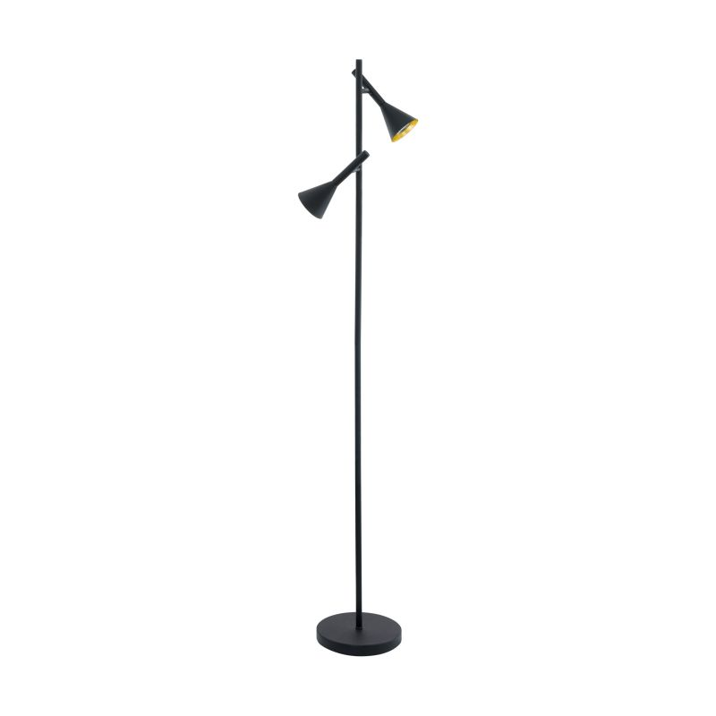 Eglo-97806 - Cortaderas - Black & Gold Floor Lamp