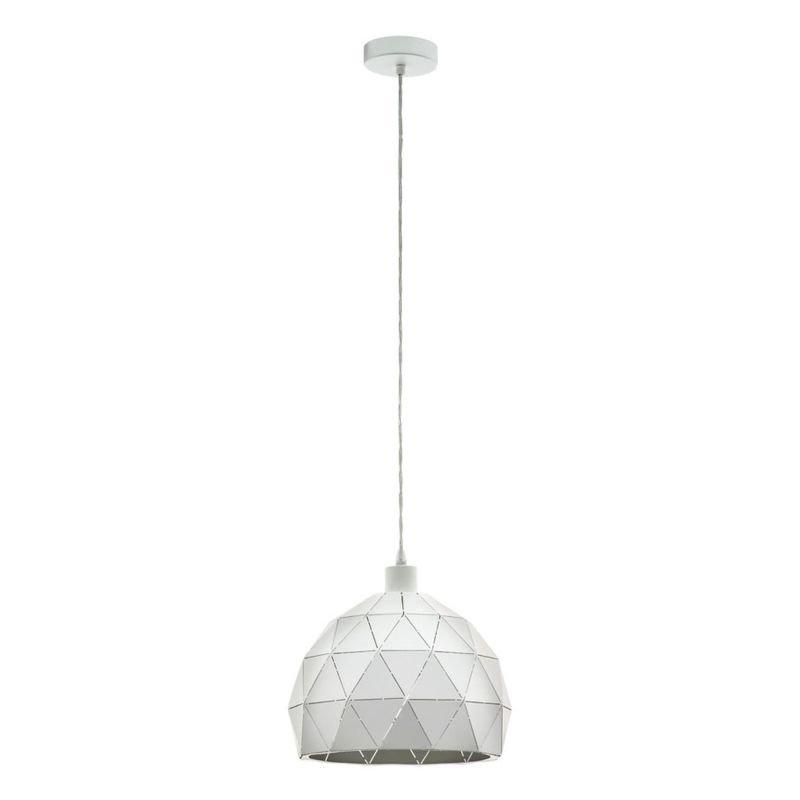 Eglo-97855 - Roccaforte - White Big Single Hanging Pendant