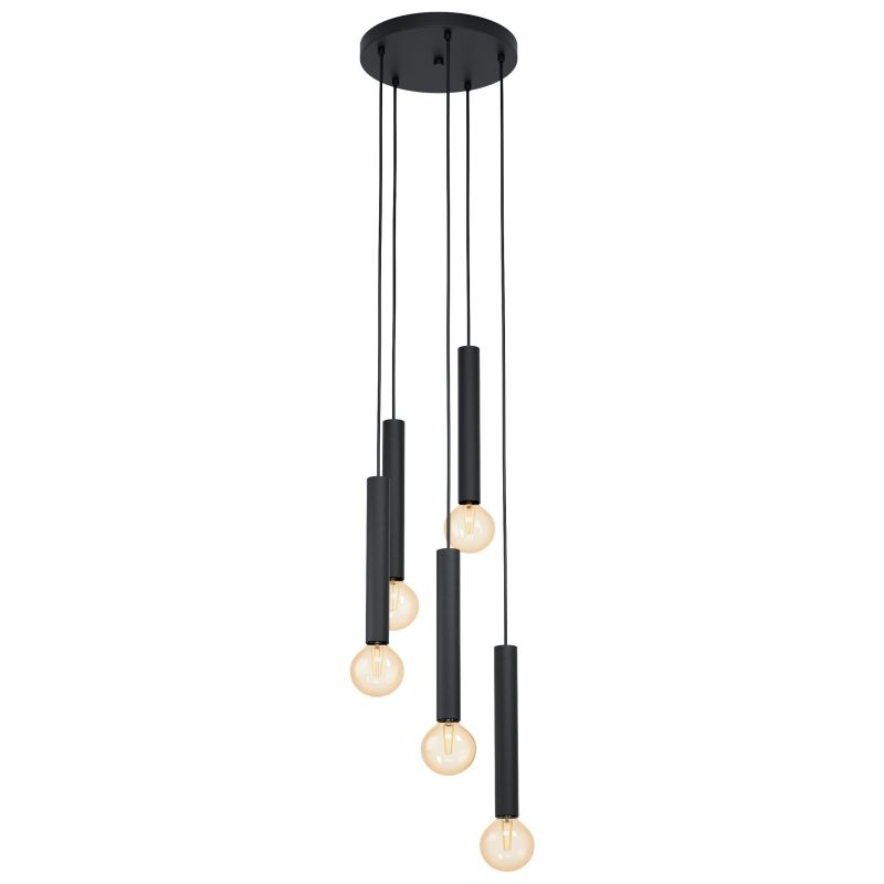 Eglo-98058 - Cortenova - Modern Black 5 Light Cluster Fitting
