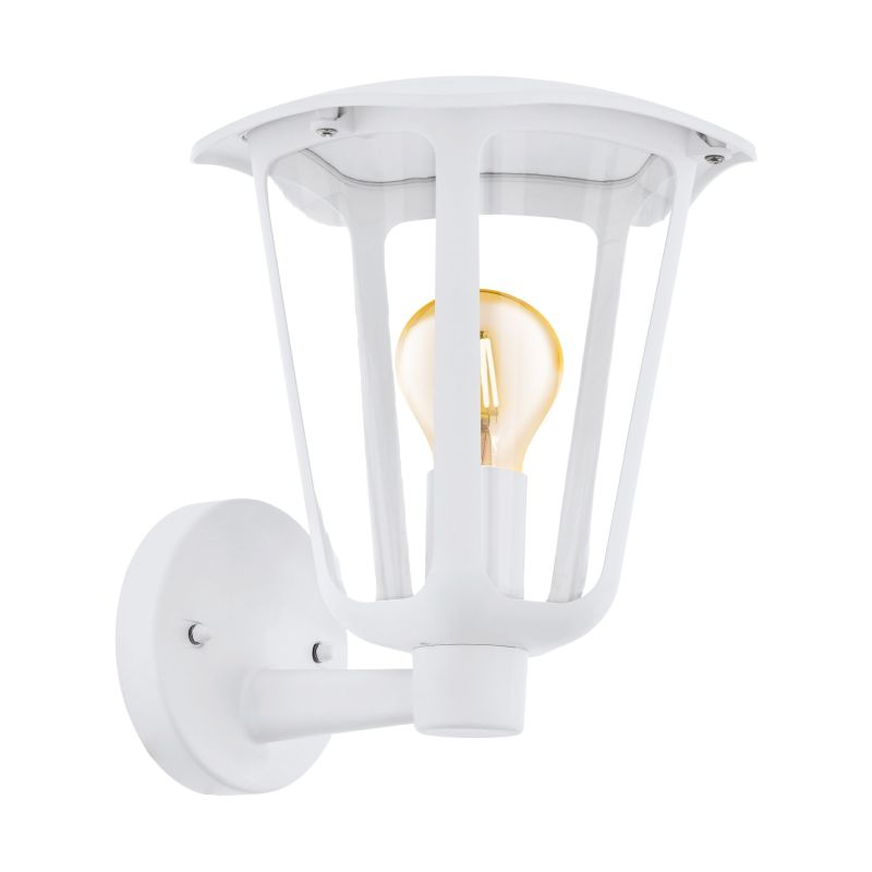 Eglo-98115 - Monreale - Outdoor Clear & White Wall Lamp