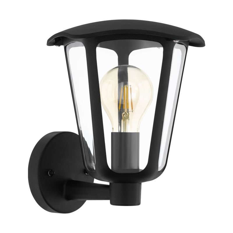 Eglo-98119 - Monreale - Outdoor Clear & Black Wall Lamp