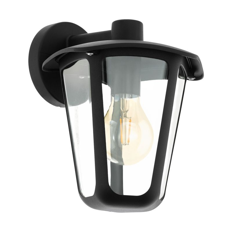 Eglo-98121 - Monreale - Outdoor Clear & Black Wall Lamp