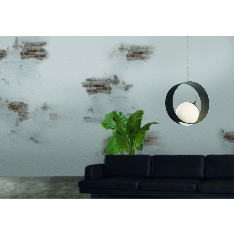 Eglo-98192 - Camargo - Black & White Globe Pendant