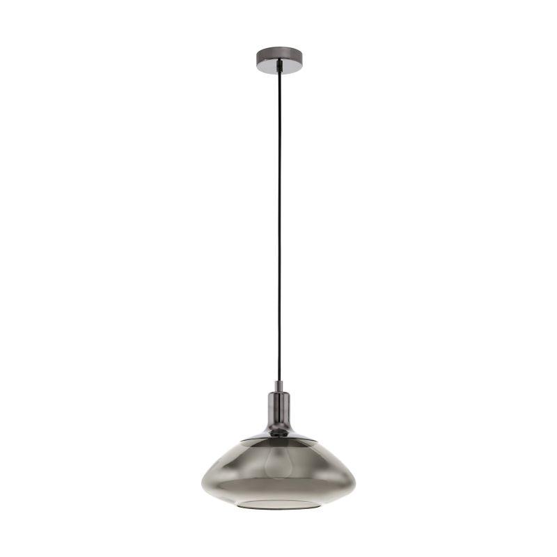 Eglo-98291 - Torrontes - Smoky Glass & Black Nickel Single Pendant