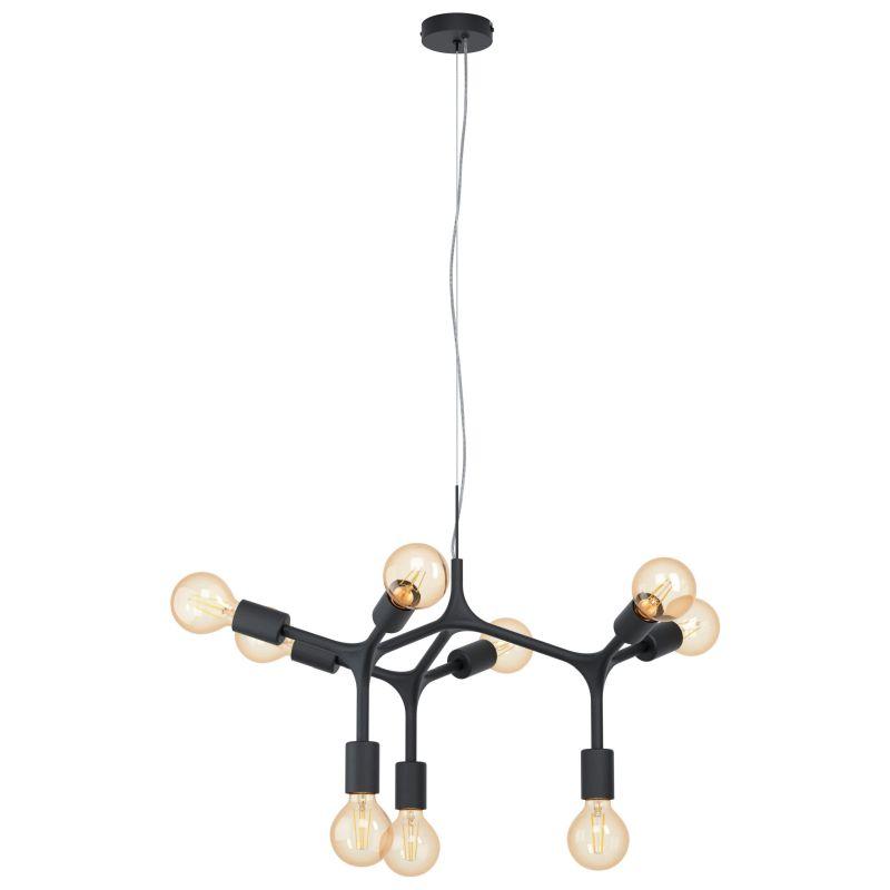 Eglo-98346 - Bocadella - Black 9 Light Centre Fitting