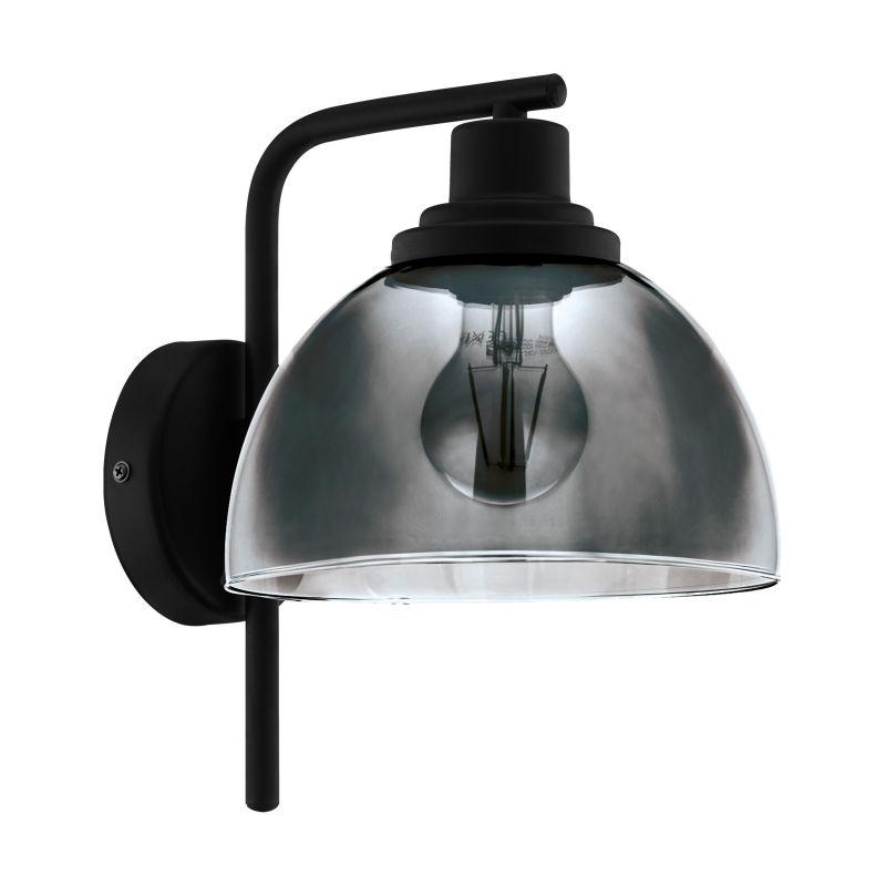 Eglo-98385 - Beleser - Smoky Glass & Black Wall Lamp