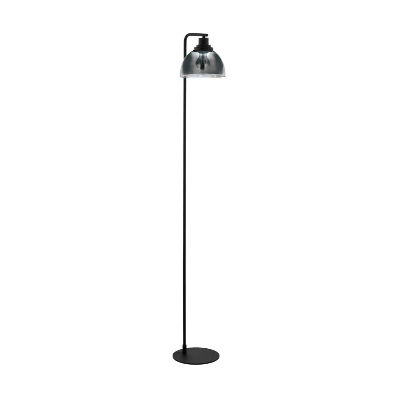 Eglo-98387 - Beleser - Smoky Glass & Black Floor Lamp
