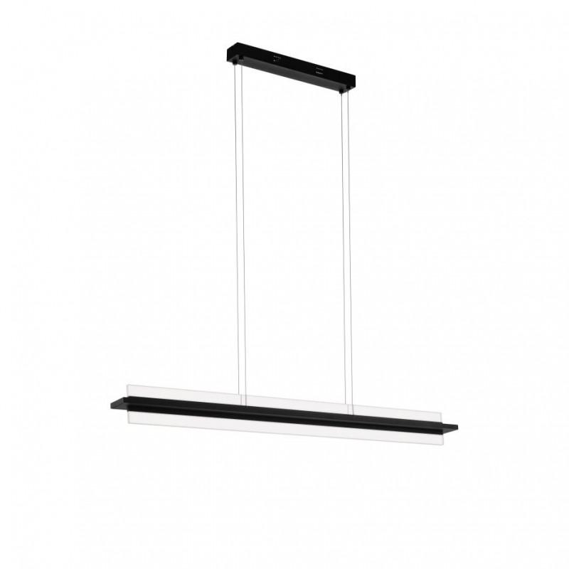 Eglo-98495 - Spadafora - LED Clear & Black Linear Pendant