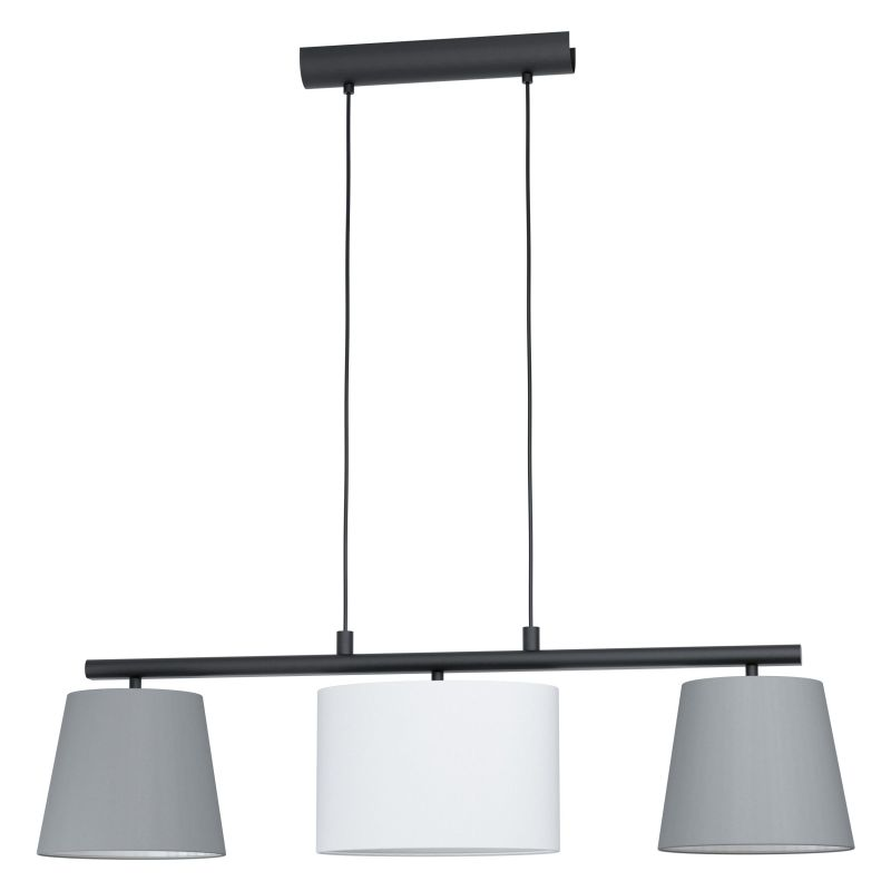 Eglo-98587 - Almeida 1 - Different Shades & Black 3 Light over Island Fitting