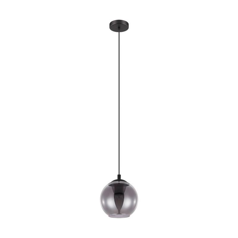 Eglo-98651 - Ariscani - Round Smoky Glass & Black Single Pendant