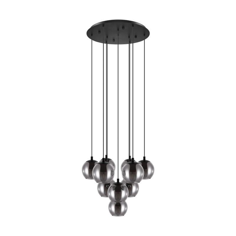 Eglo-98654 - Ariscani - Round Smoky Glass & Black Cluster Pendant