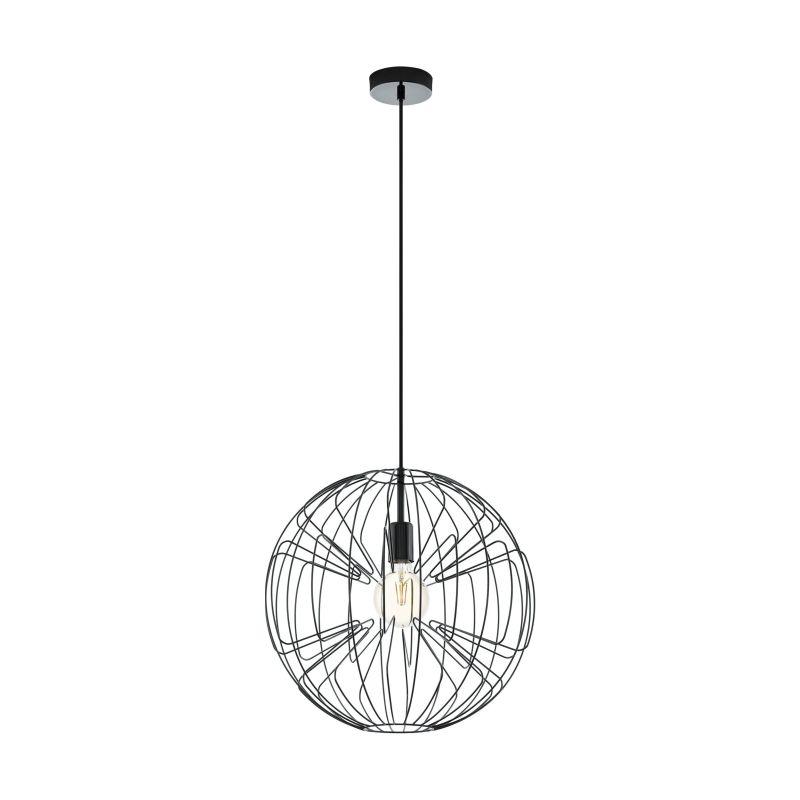Eglo-98688 - Okinzuri - Black Globe Single Pendant