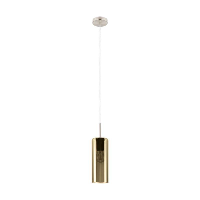 Eglo-98696 - Selvino - Gold Glass & Satin Nickel Single Pendant