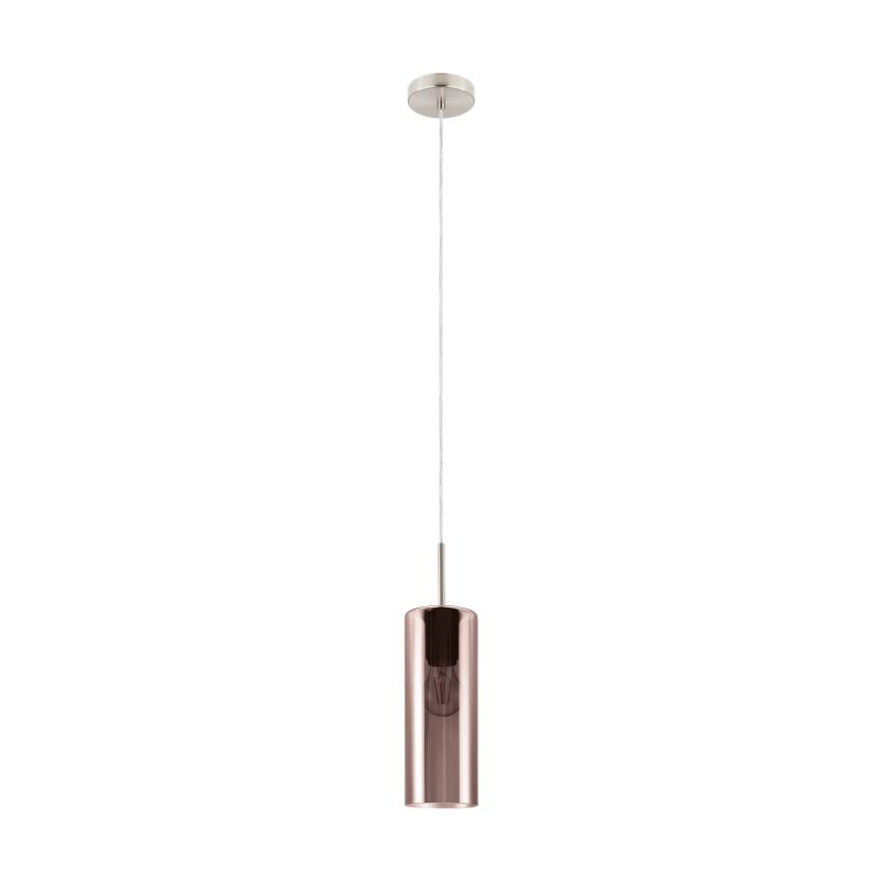 Eglo-98698 - Selvino - Copper Glass & Satin Nickel Single Pendant