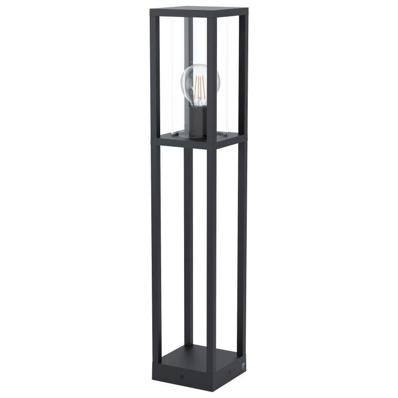 Eglo-98715 - Cascinetta - Black with Clear Glass Lantern Big Post