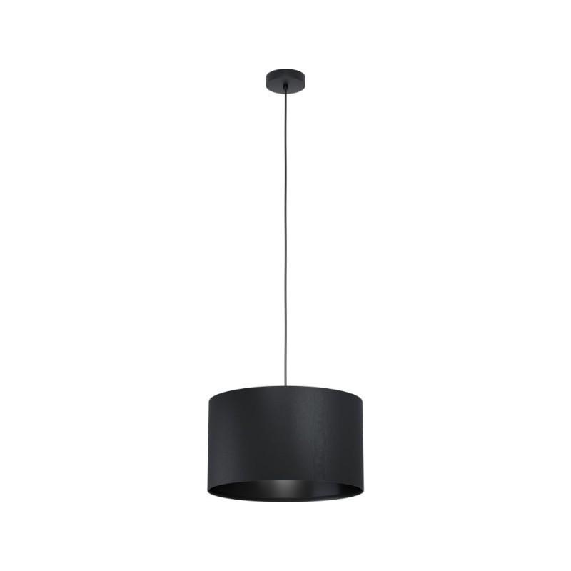 Eglo-99042 - Maserlo 1 - Black Drum Shade Single Pendant