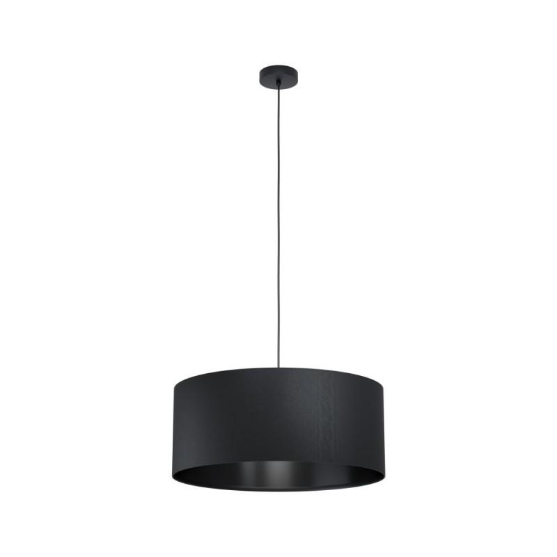 Eglo-99043 - Maserlo 1 - Black Drum Shade Single Pendant