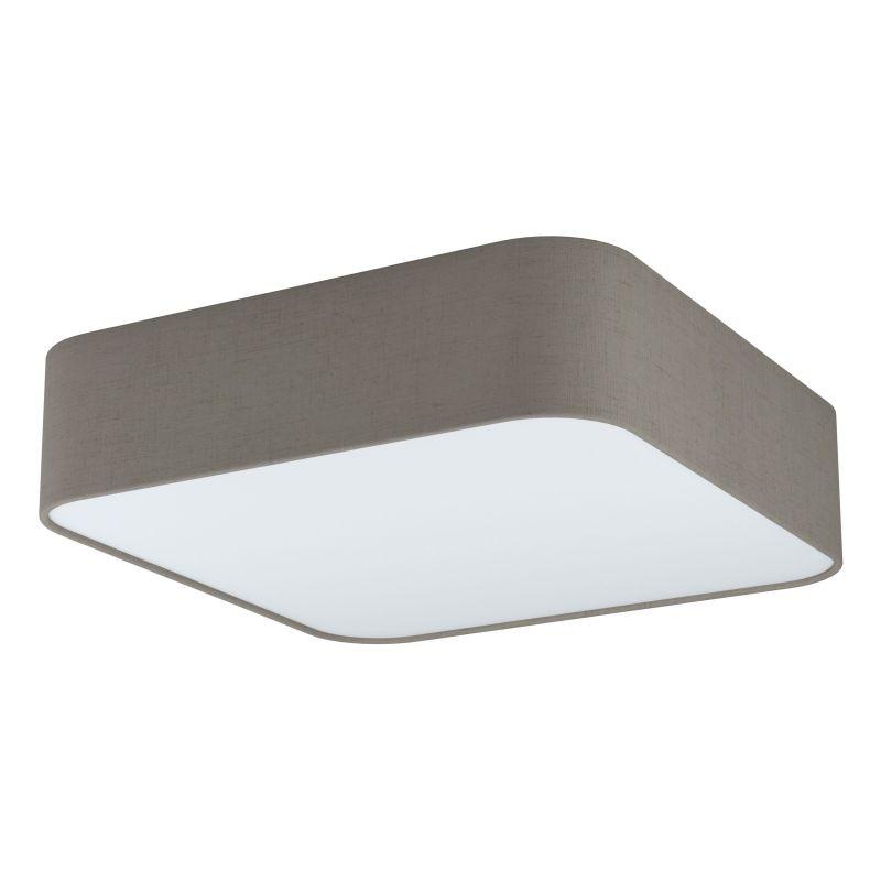 Eglo-99091 - Pasteri Square - Taupe & White Diffuser 5 Light Square Flush