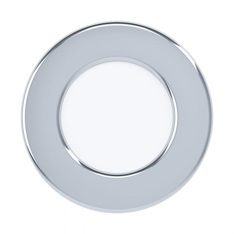 Eglo-99204 - Fueva 5 - LED Chrome & White Recessed Downlight Ø 8.6 cm 3000K