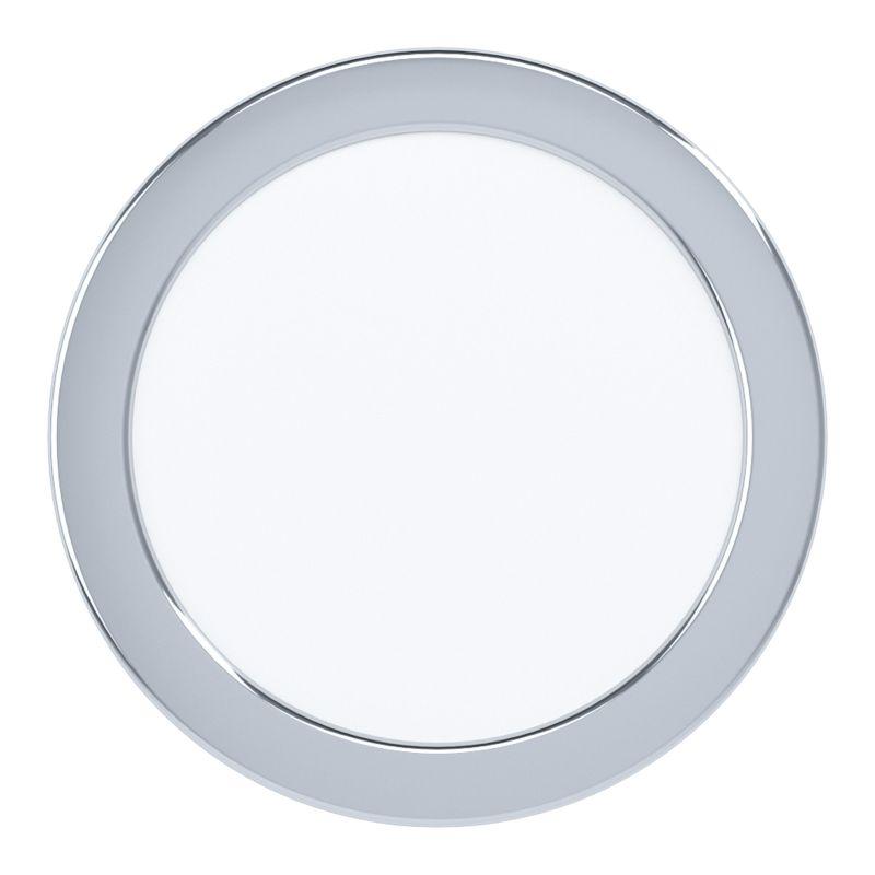 Eglo-99205 - Fueva 5 - LED Chrome & White Recessed Downlight Ø 16.6 cm 3000K