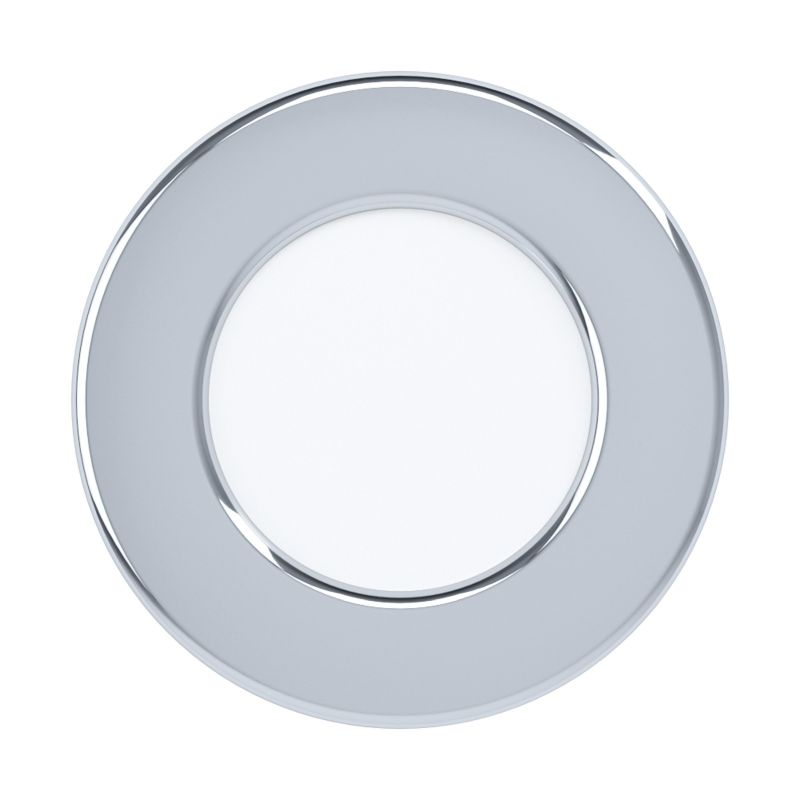 Eglo-99208 - Fueva 5 - LED Chrome & White Recessed Downlight Ø 8.6 cm 4000K