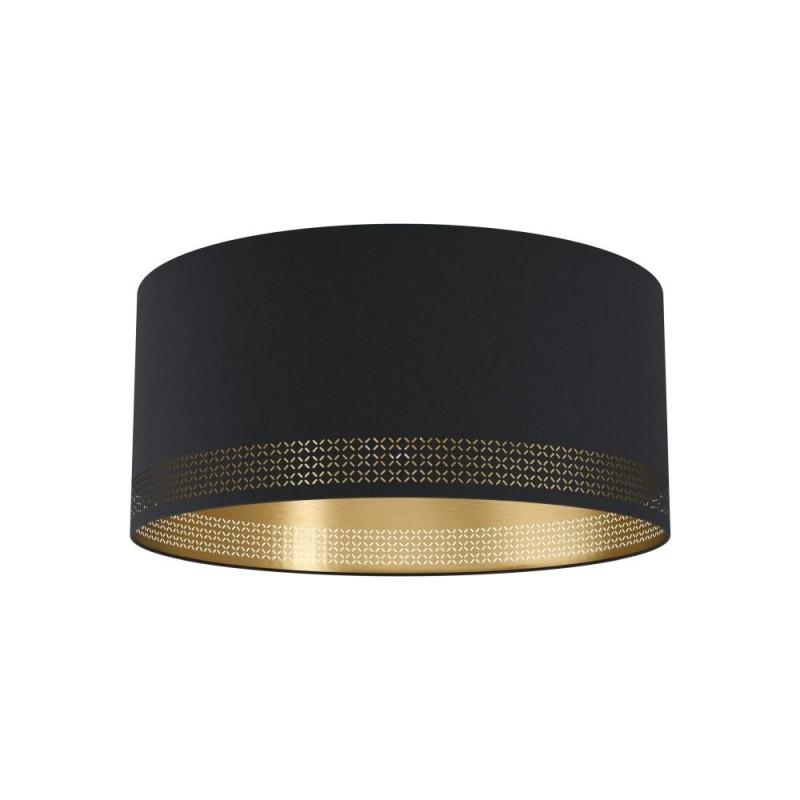 Eglo-99272 - Esteperra - Elegant Black & Gold Drum Flush
