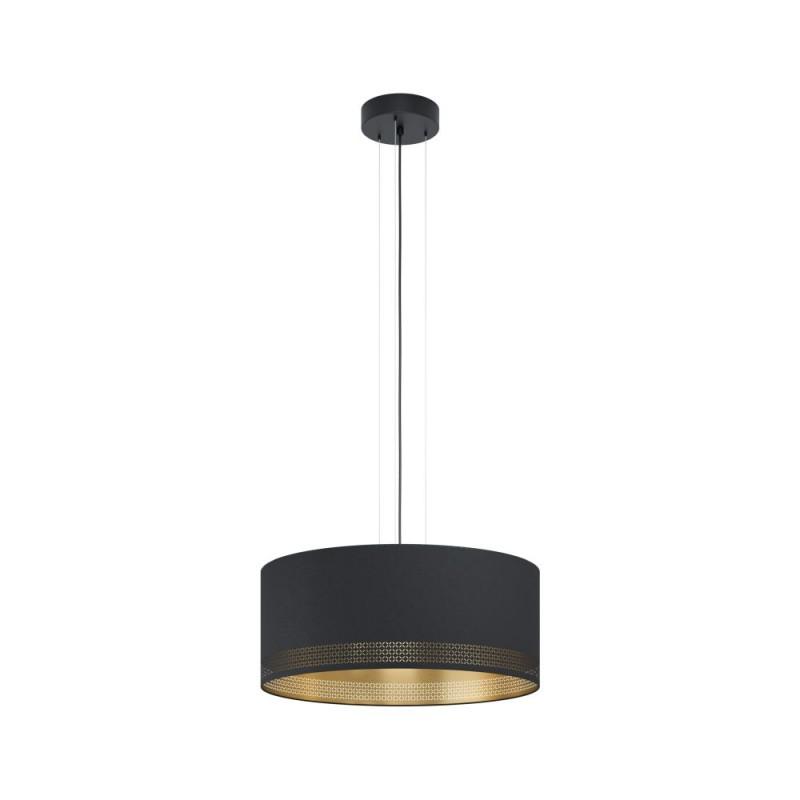 Eglo-99274 - Esteperra - Elegant Black & Gold Drum 3 Light Pendant