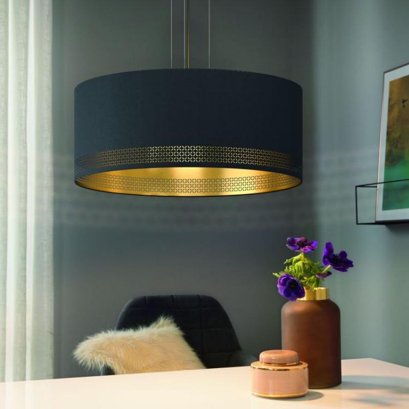 Eglo-99273 - Esteperra - Elegant Black & Gold Drum Pendant