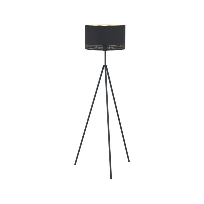 Eglo-99279 - Esteperra - Elegant Black & Gold Tripod Floor Lamp