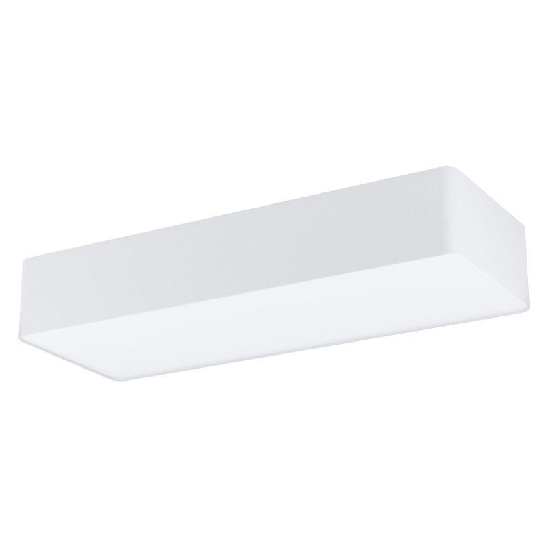 Eglo-99298 - Posaderra - White Fabric & White Diffuser 3 Light Rectangle Flush