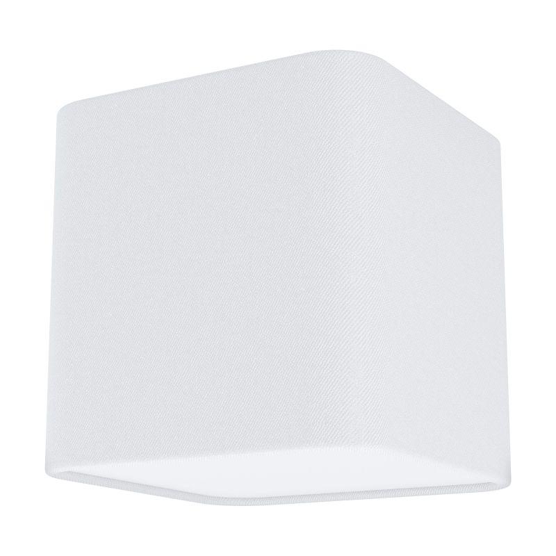 Eglo-99299 - Posaderra - White Fabric & White Diffuser 1 Light Square Flush