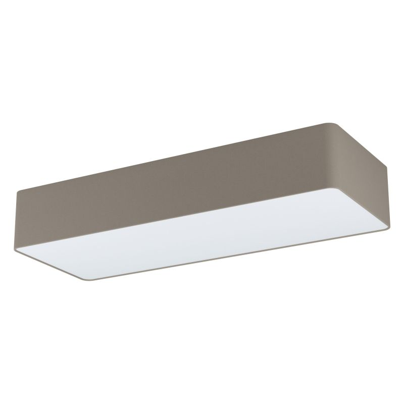 Eglo-99301 - Posaderra - Taupe & White Diffuser 3 Light Rectangle Flush