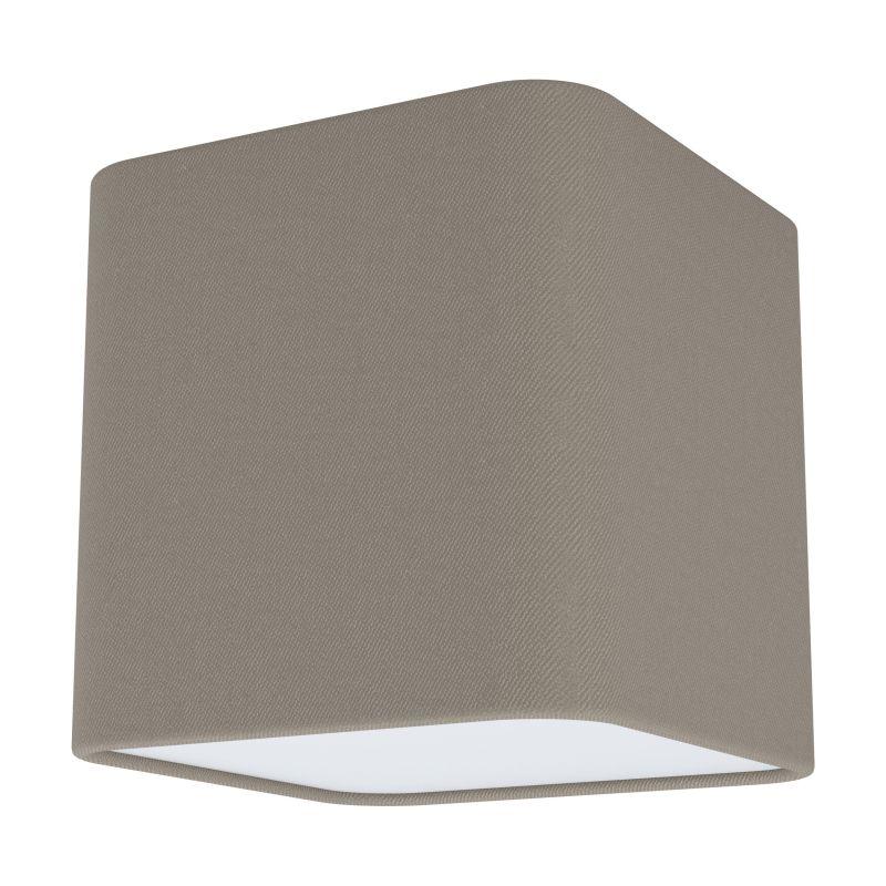 Eglo-99302 - Posaderra - Taupe & White Diffuser 1 Light Square Flush