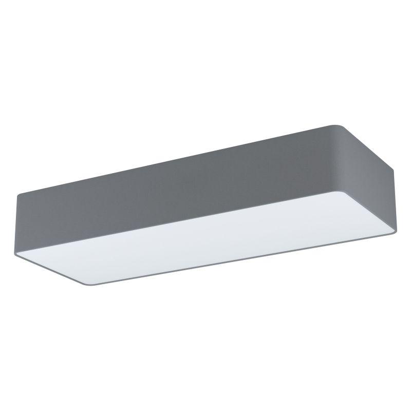 Eglo-99303 - Posaderra - Grey & White Diffuser 3 Light Rectangle Flush