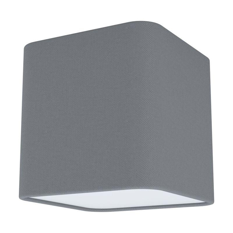 Eglo-99304 - Posaderra - Grey & White Diffuser 1 Light Square Flush