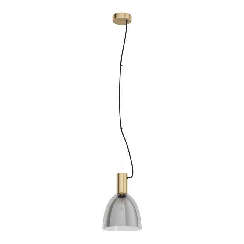 Eglo-99313 - Lebalio - Smoky Glass & Bronzed Single Pendant