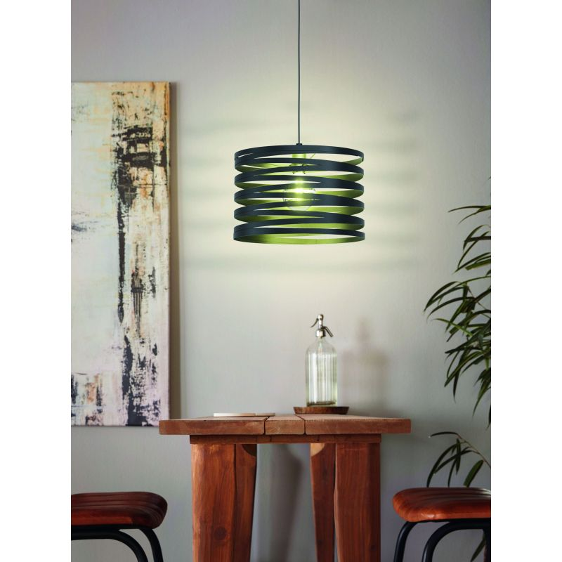 Eglo-99345 - Cremella - Black Stripes Big Single Pendant