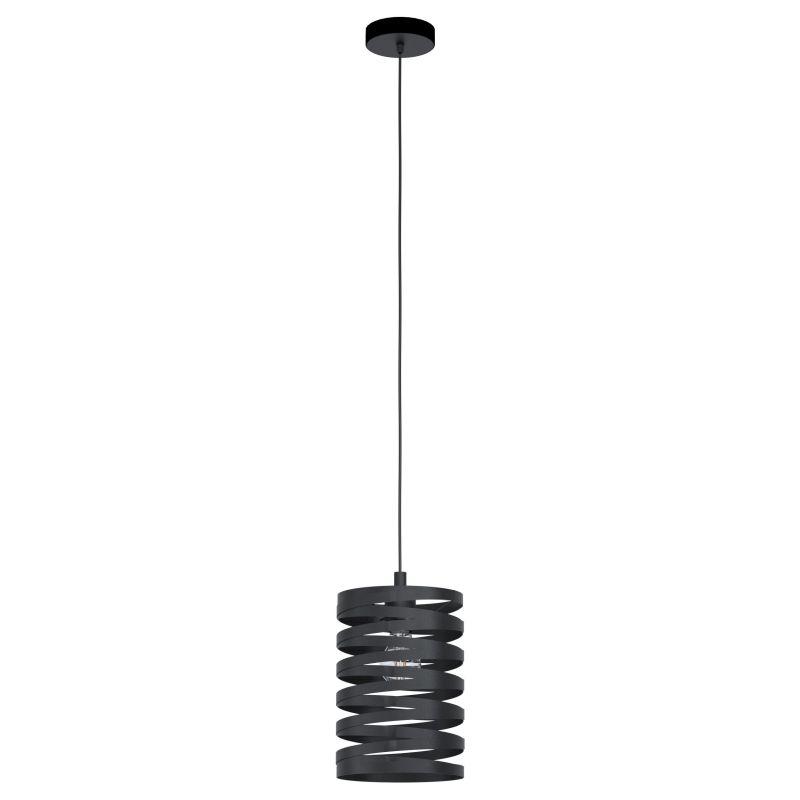 Eglo-99346 - Cremella - Black Stripes Small Single Pendant