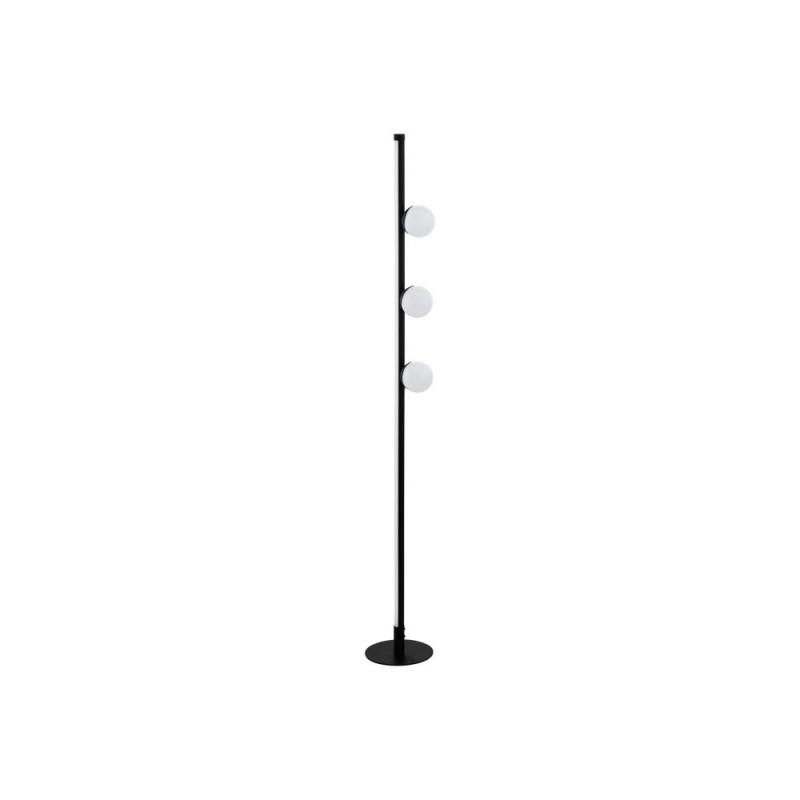 Eglo-99378 - Phianeros - LED White Globe & Black Floor Lamp
