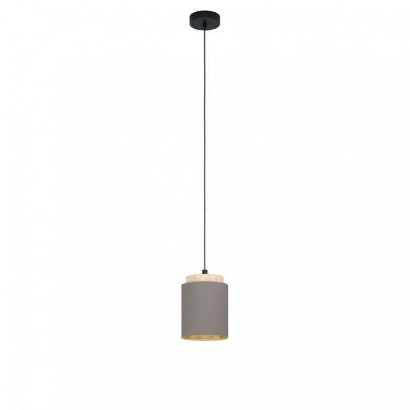 Eglo-99445 - Albariza - Cappuccino Shade & Wood Single Pendant