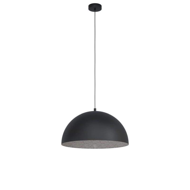 Eglo-99452 - Gaetano 1 - Big Black with Grey Inside Single Pendant