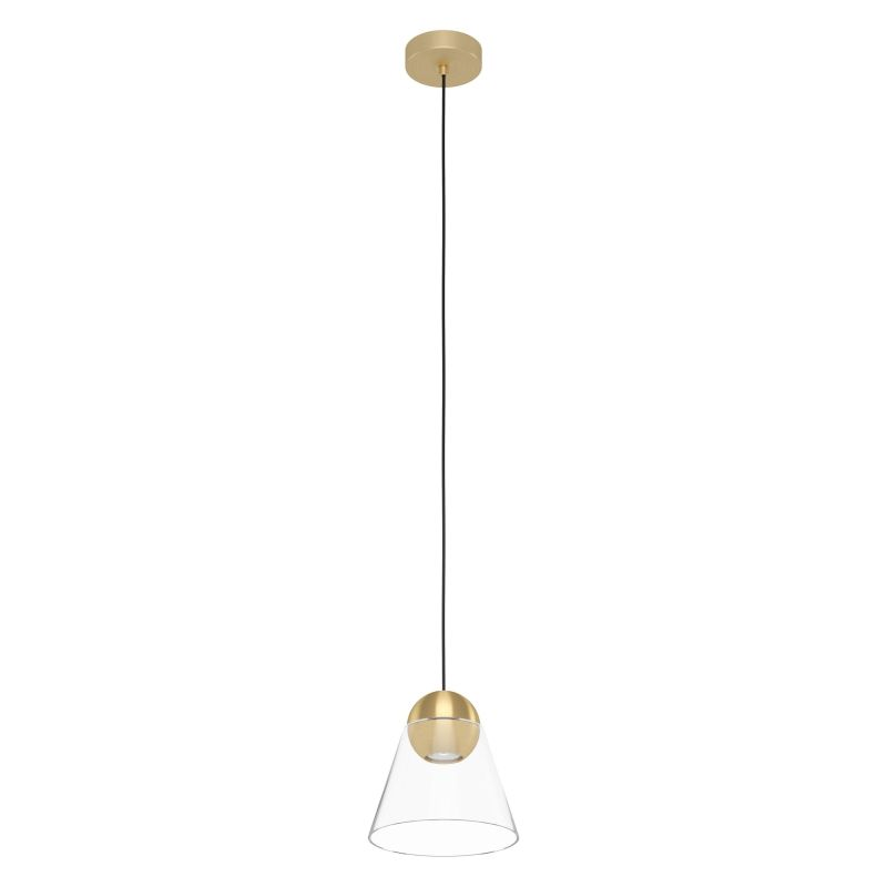 Eglo-99628 - Cerasella - Clear Glass & Brushed Gold Single Pendant