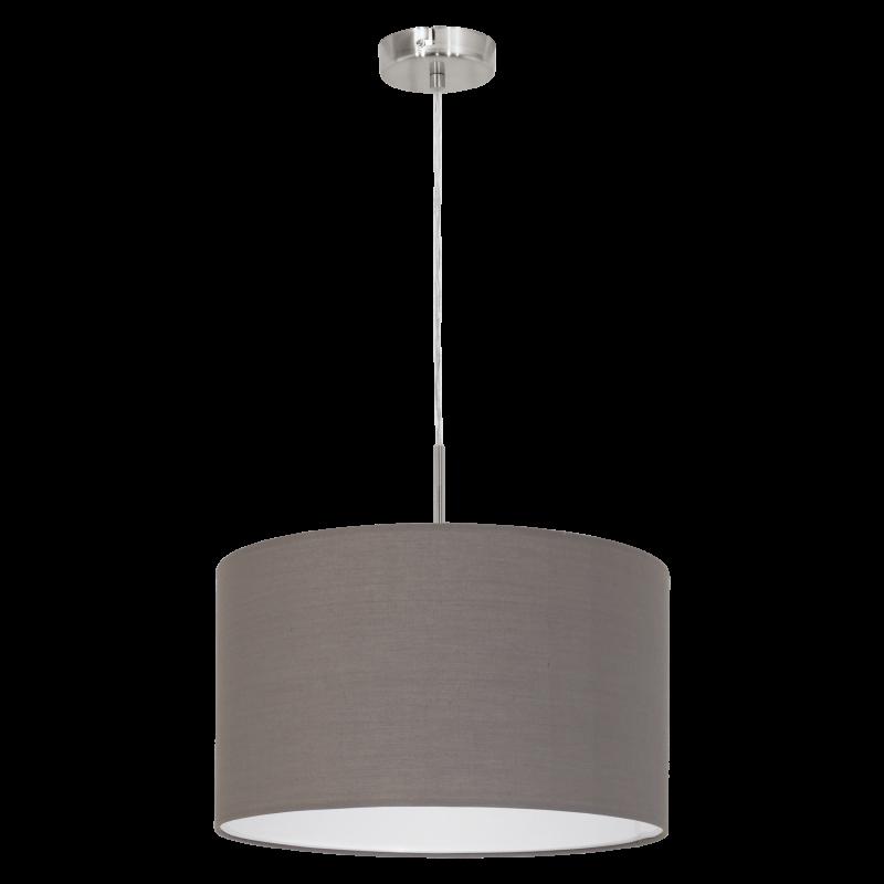 Eglo-31574 - Pasteri - Brown & White with Nickel Single Pendant