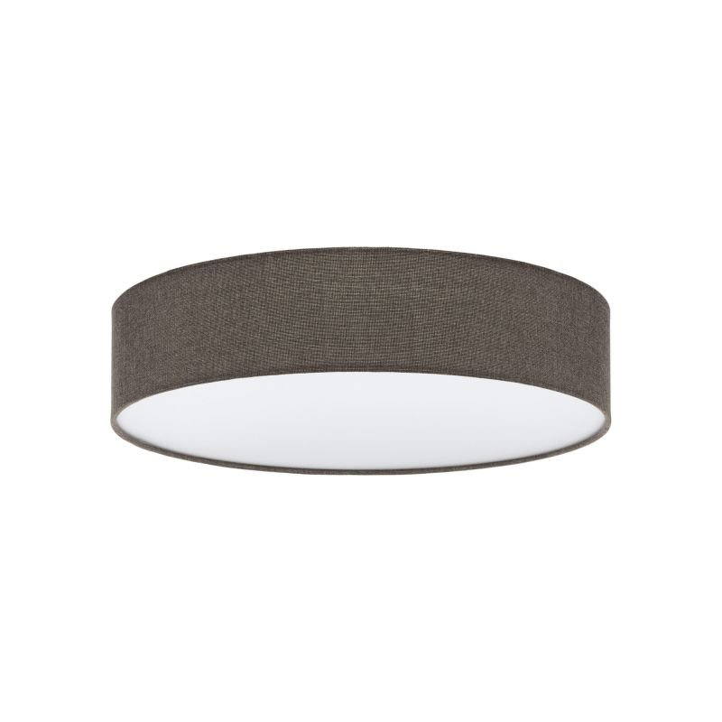 Eglo-97614 - Pasteri - Brown Linen & White Diffuser 3 Light Ceiling Lamp