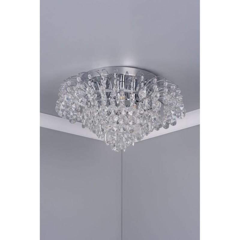 Dar-49308 - Angelina - Crystal & Chrome 3 Light Flush