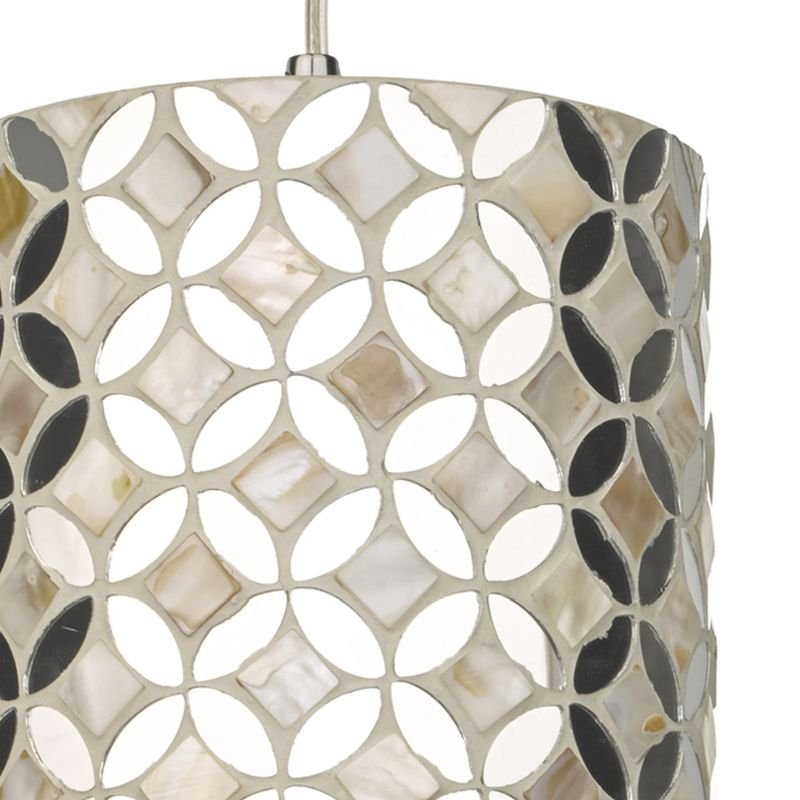 Dar-ACQ8668 - Acquila - Natural Shell and Mirror Small Shade for Hanging Pendant