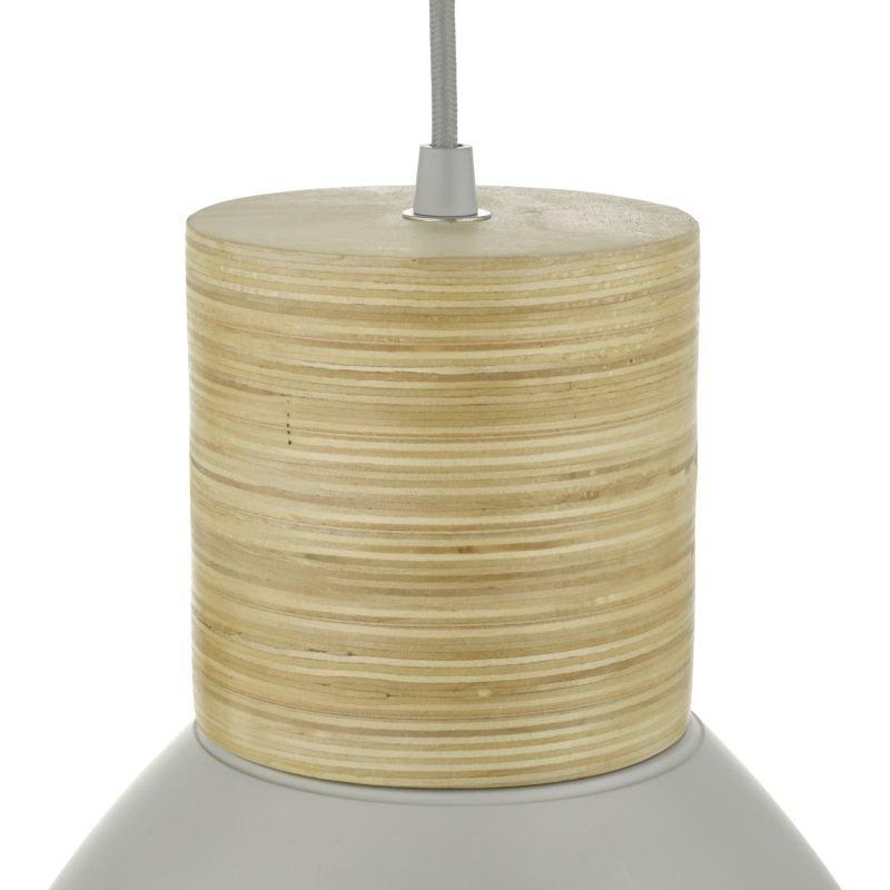 Dar-ADN0139 - Adna - Grey Metal with Natural Wood Hanging Pendant